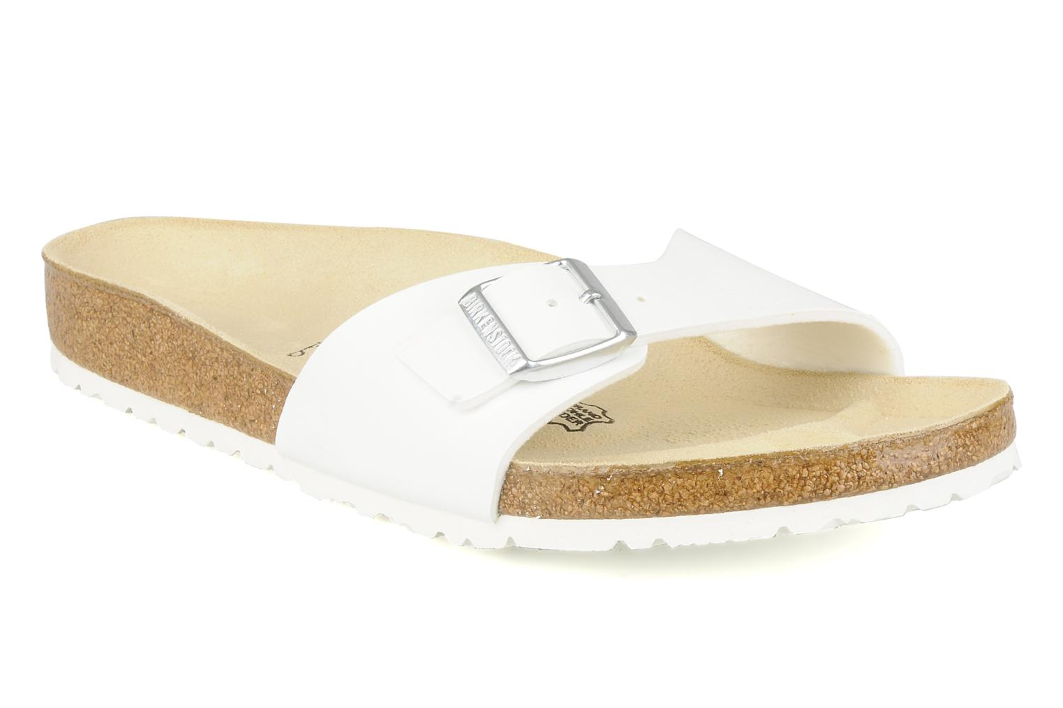 Sandals Birkenstock Madrid Flor M White detailed view/ Pair view