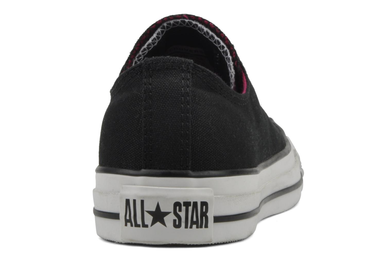Sneakers Converse Chuck Taylor All Star Double Tongue Ox Zwart rechts