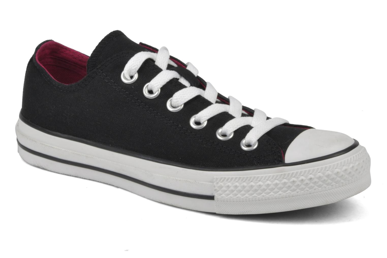 Sneakers Converse Chuck Taylor All Star Double Tongue Ox Sort detaljeret billede af skoene