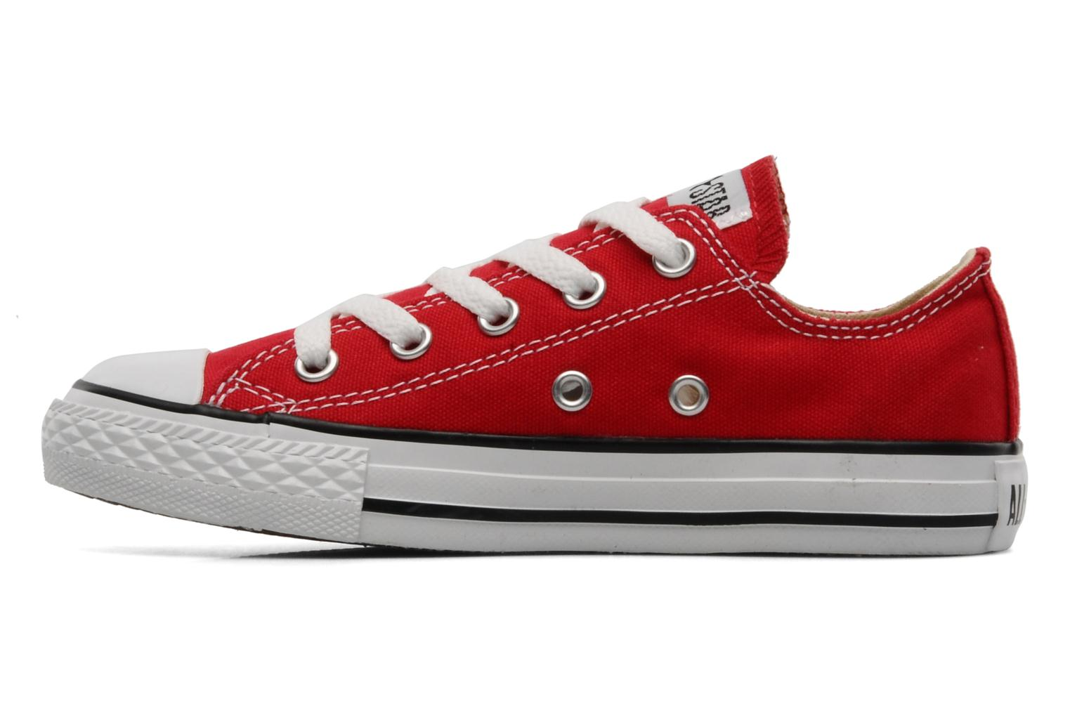 Baskets Converse Chuck Taylor All Star Ox K Rouge vue face
