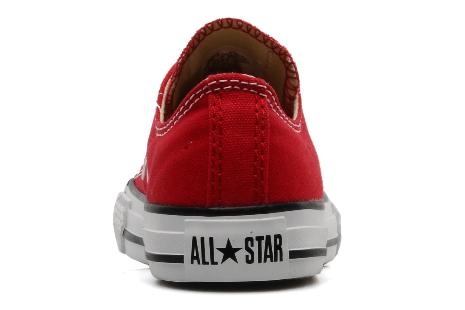 Baskets Converse Chuck Taylor All Star Ox K Rouge vue droite