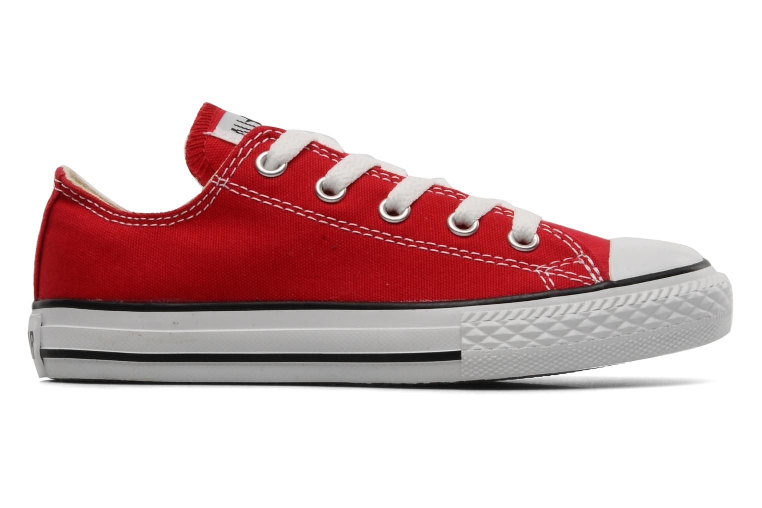 Baskets Converse Chuck Taylor All Star Ox K Rouge vue derrière