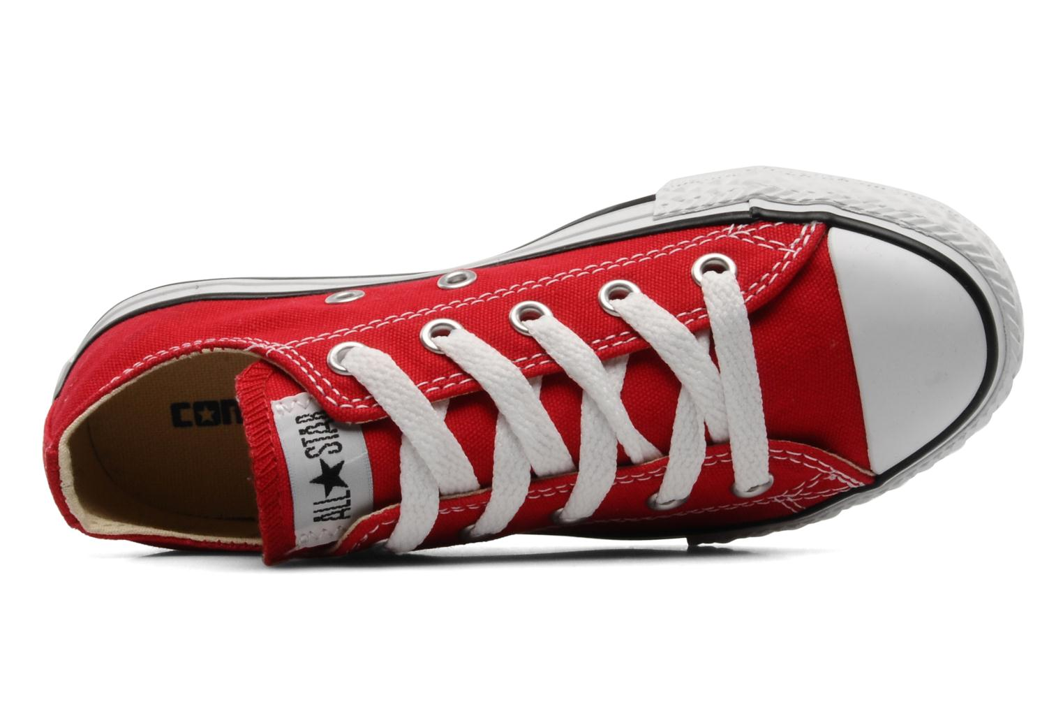 Baskets Converse Chuck Taylor All Star Ox K Rouge vue gauche