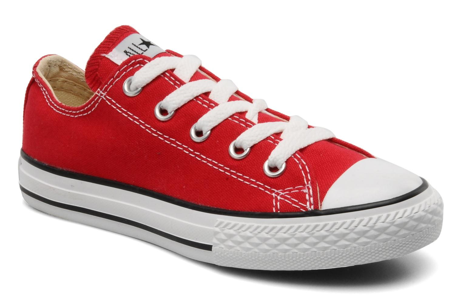 Baskets Converse Chuck Taylor All Star Ox K Rouge vue détail/paire