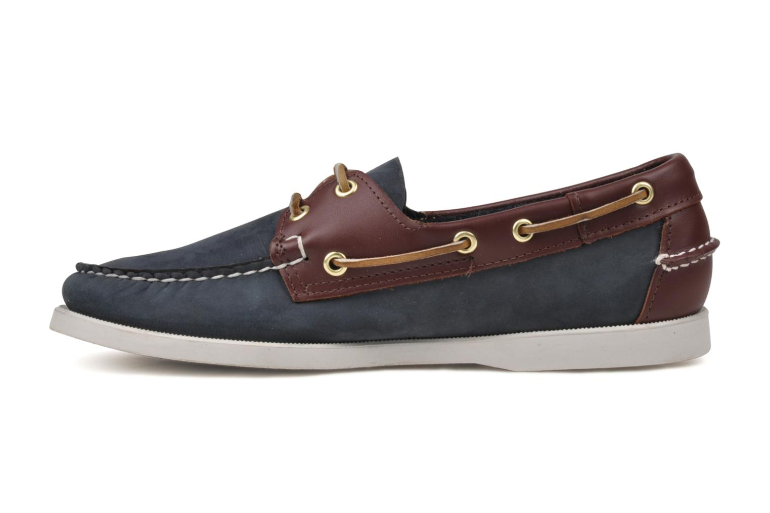 Lace-up shoes Sebago Spinnaker Blue view from the left