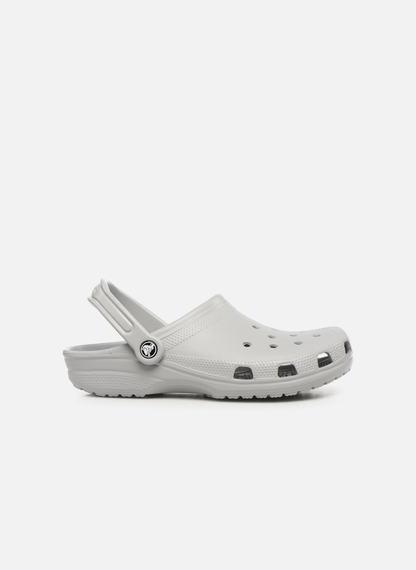 Sandales et nu-pieds Crocs Classic H Gris vue derrière