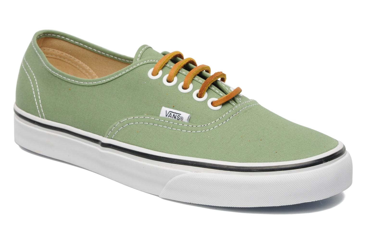 Baskets Vans Authentic Vert vue détail/paire