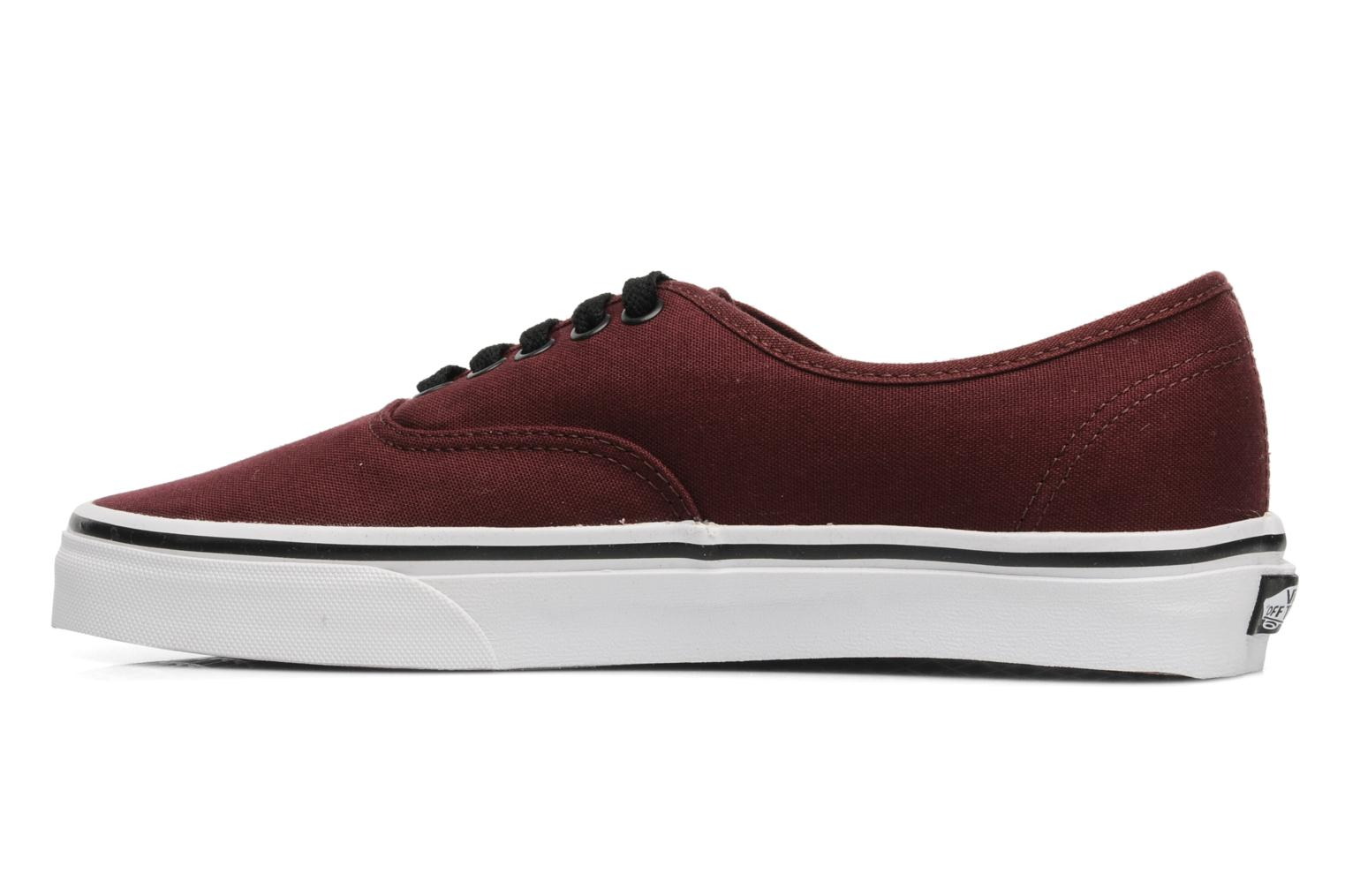 Trainers Vans Authentic Burgundy front view