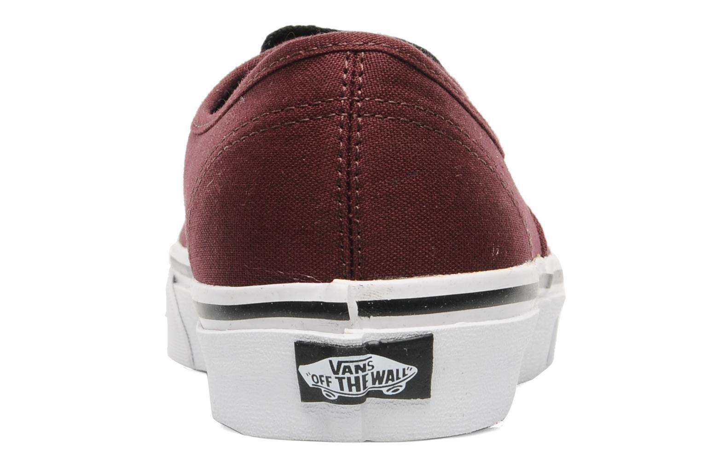 Sneakers Vans Authentic Bordeaux rechts