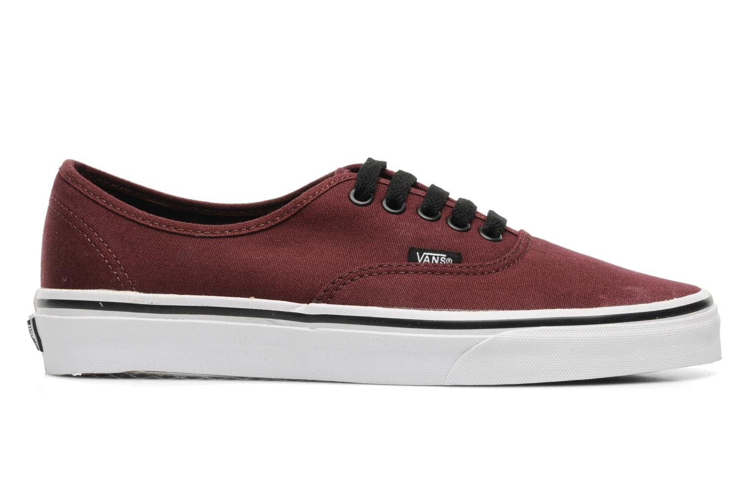 Trainers Vans Authentic Burgundy back view