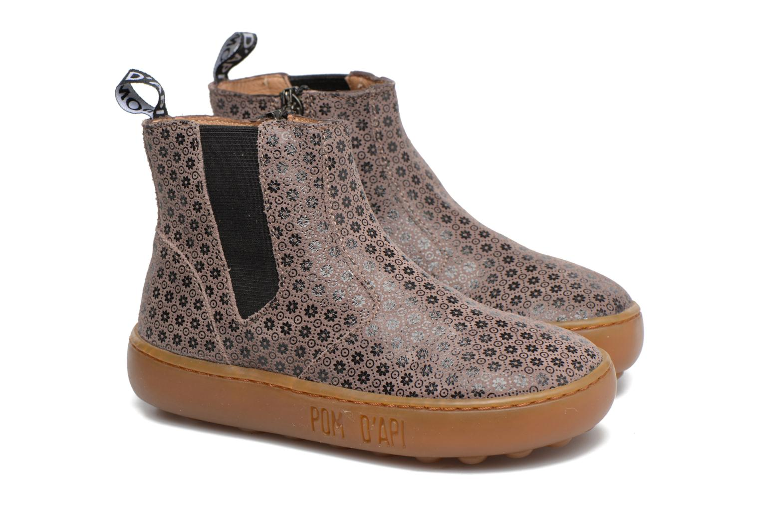 Ankle boots Pom d Api Walk Jodpur Basic Brown 3/4 view