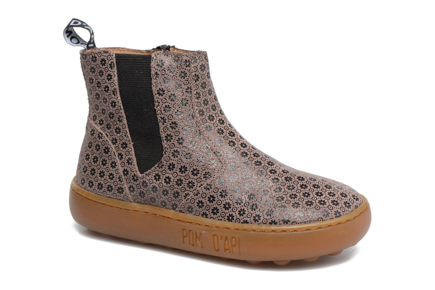 Ankle boots Pom d Api Walk Jodpur Basic Brown detailed view/ Pair view