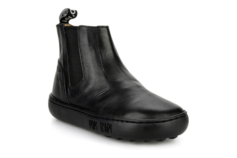 Boots en enkellaarsjes Pom d Api Walk Jodpur Basic Zwart detail