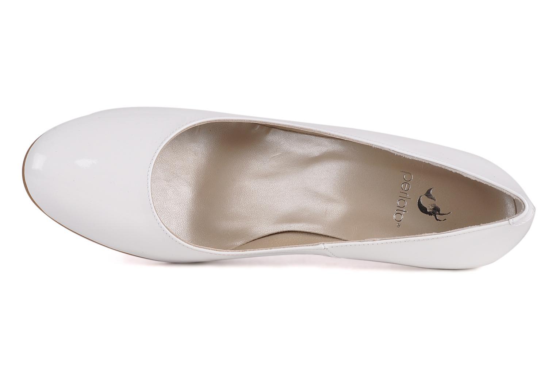 Zapatos de tacón Perlato Lucie Blanco vista lateral izquierda