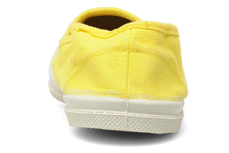 Sneaker Bensimon Tennis Elastique E gelb ansicht von rechts