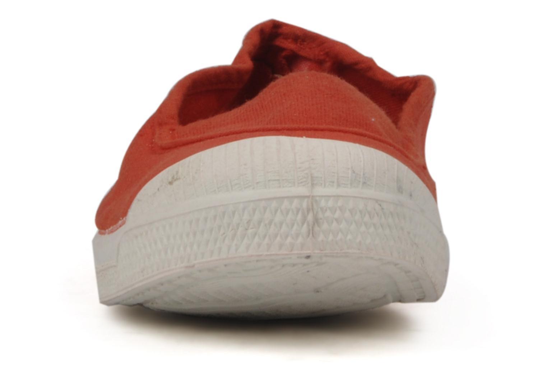 Sneaker Bensimon Tennis Elastique E rot schuhe getragen