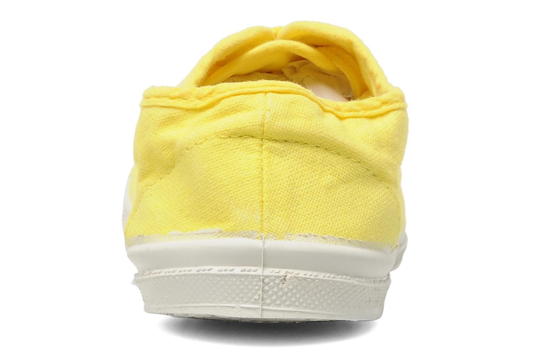 Sneaker Bensimon Tennis Lacets E gelb ansicht von rechts