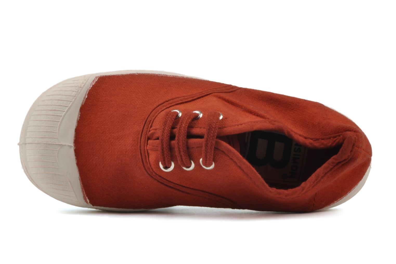 Baskets Bensimon Tennis Lacets E Rouge vue gauche