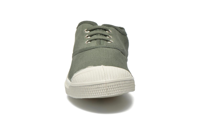 Baskets Bensimon Tennis Lacets E Vert vue portées chaussures