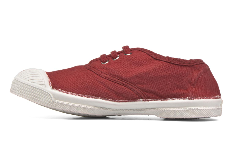 Deportivas Bensimon Tennis Lacets E Rojo vista de frente