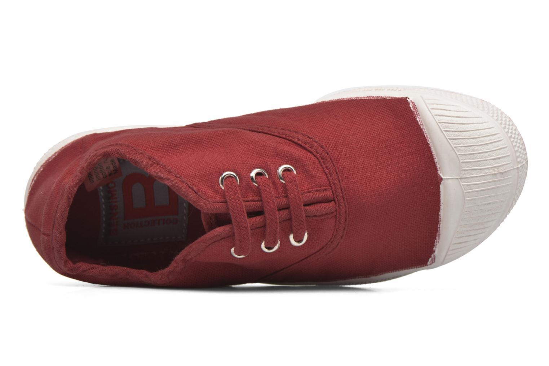 Sneakers Bensimon Tennis Lacets E Röd bild från vänster sidan
