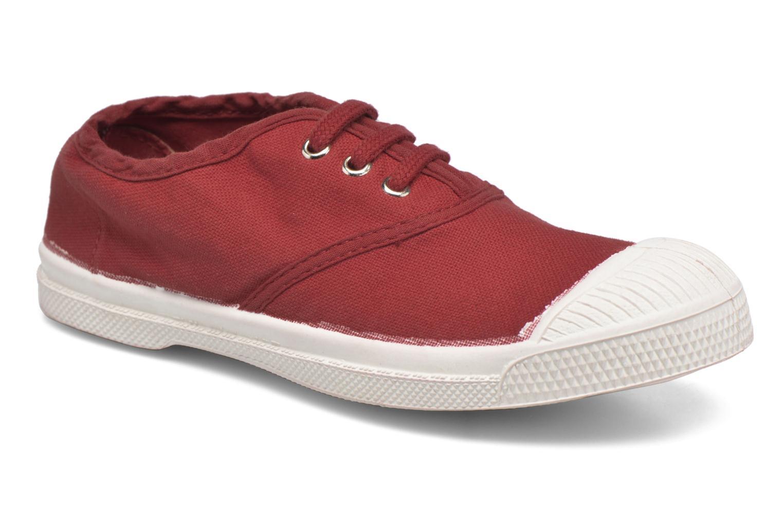 Sneakers Bensimon Tennis Lacets E Röd detaljerad bild på paret
