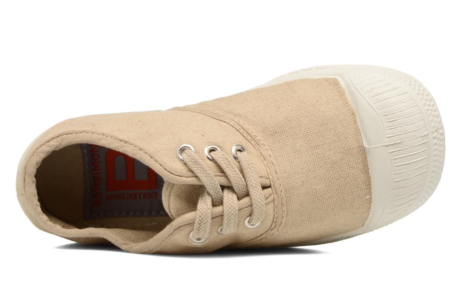 Trainers Bensimon Tennis Lacets E Beige view from the left