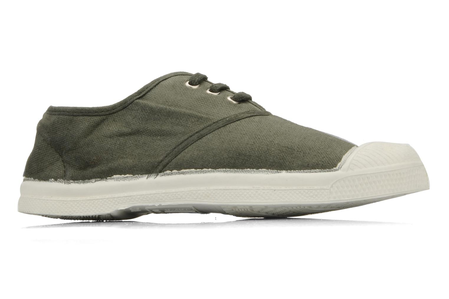 Trainers Bensimon Tennis Lacets E Green back view