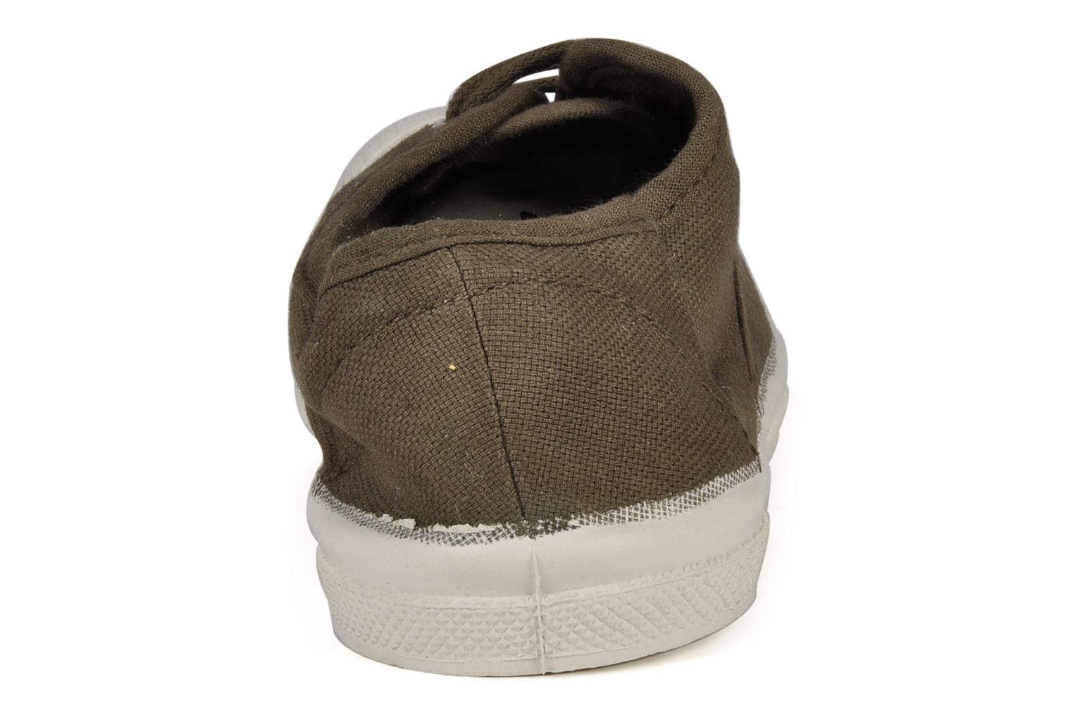 Trainers Bensimon Tennis Lacets E Brown view from the right