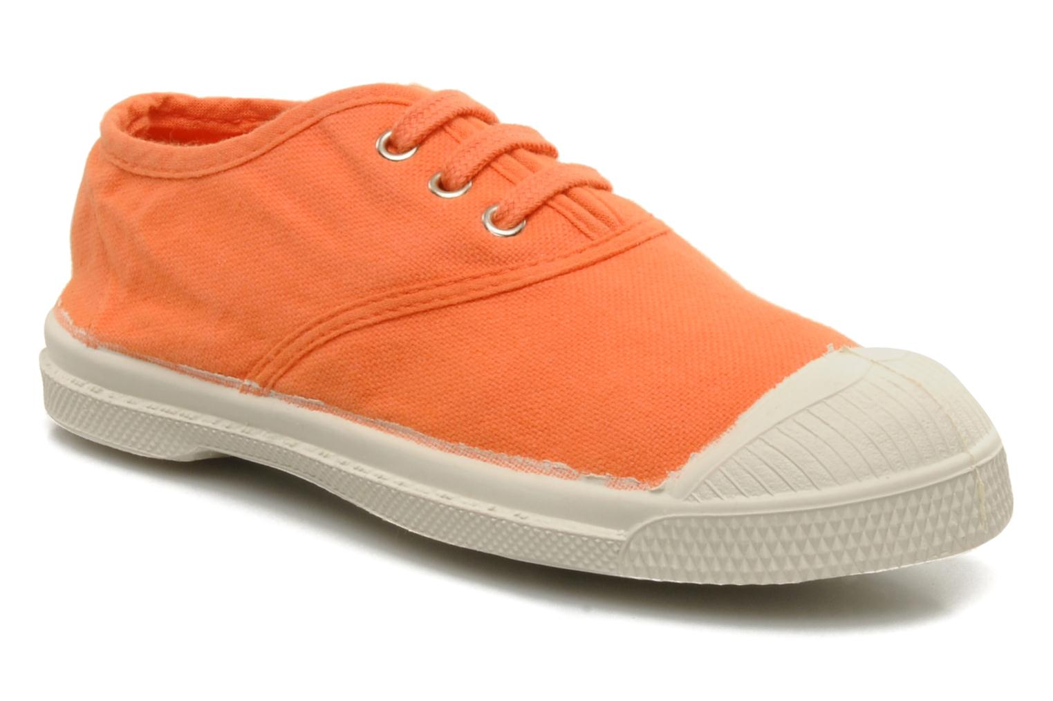 Sneakers Bensimon Tennis Lacets E Orange detaljerad bild på paret