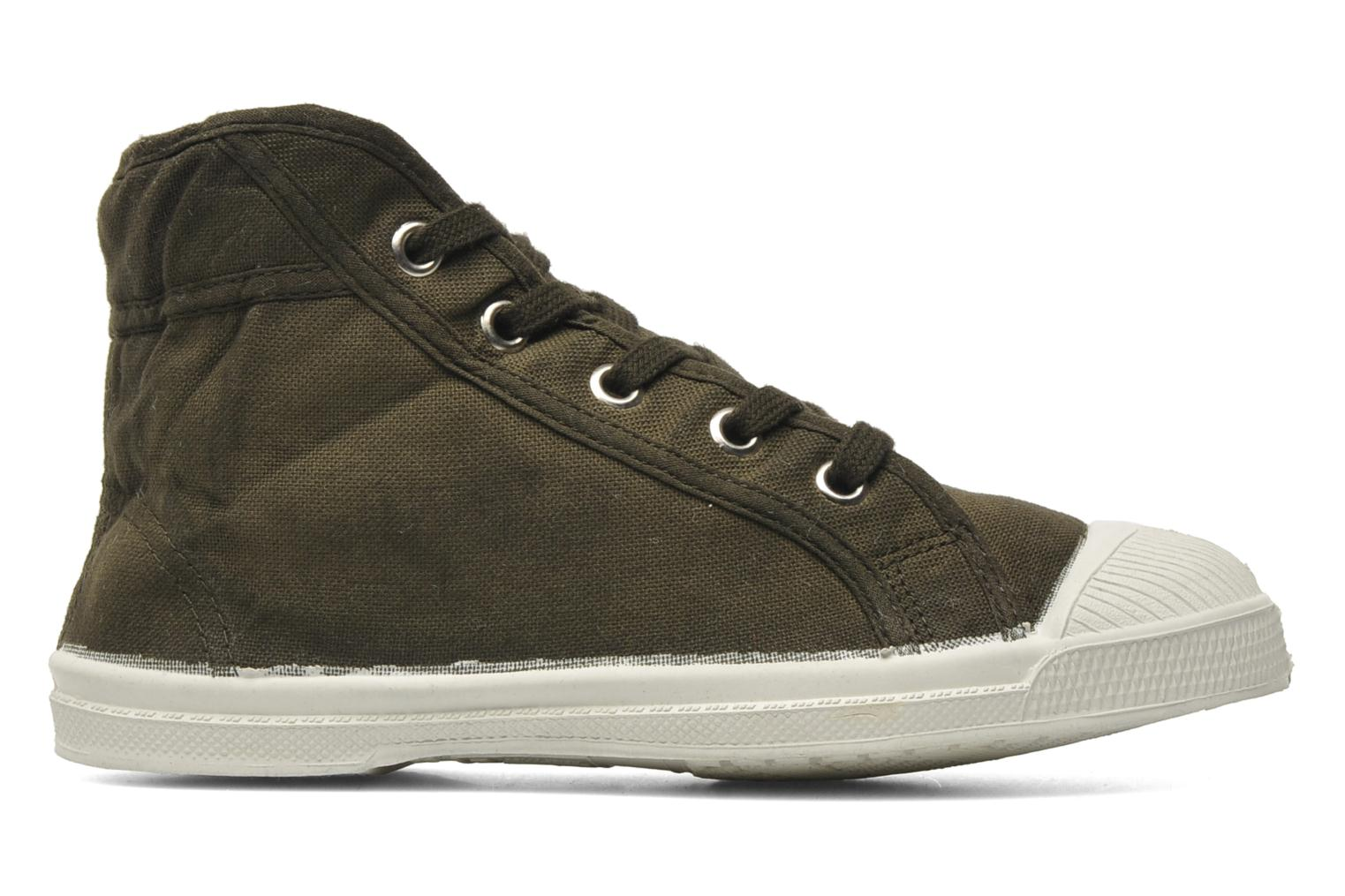 Trainers Bensimon Tennis Mid E Green back view