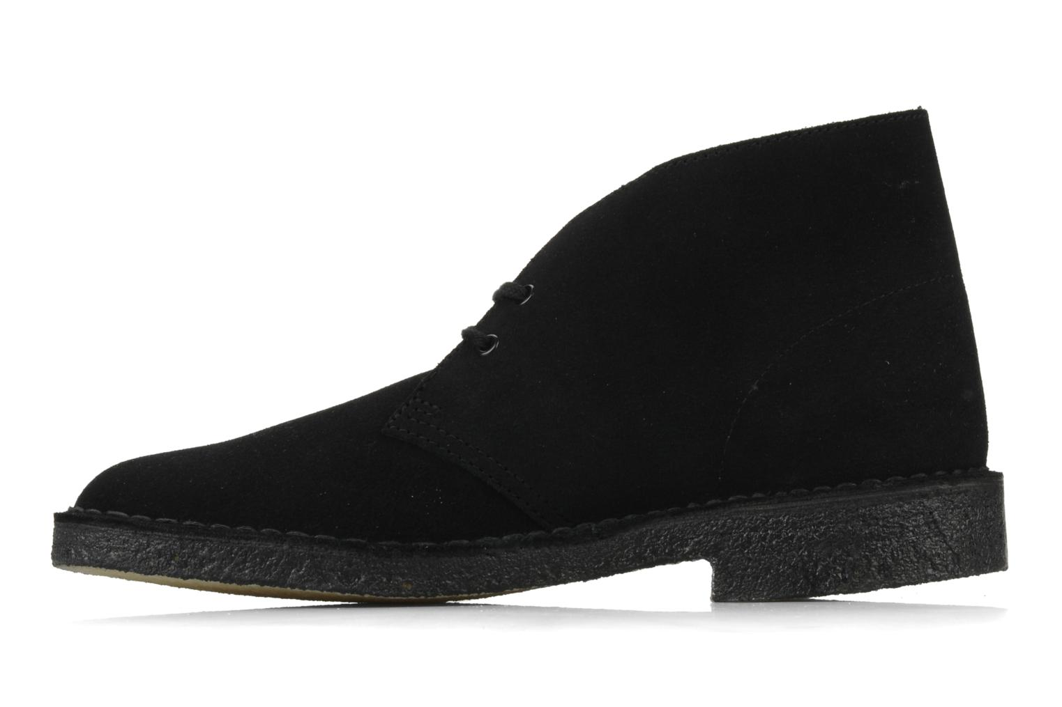 Lace-up shoes Clarks Desert Boot M Black front view