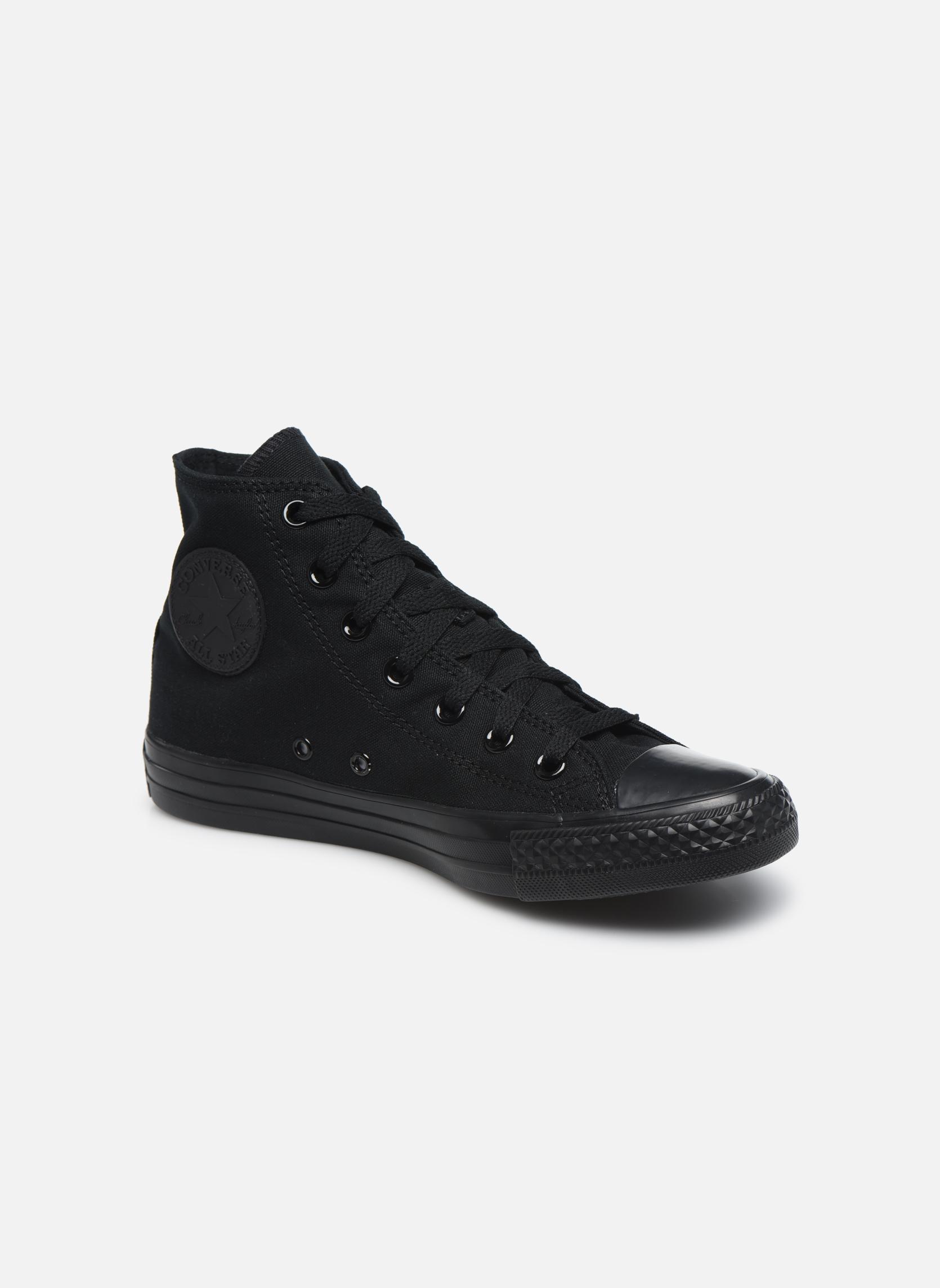 Sneakers Converse Chuck Taylor All Star Monochrome Canvas Hi W Sort detaljeret billede af skoene
