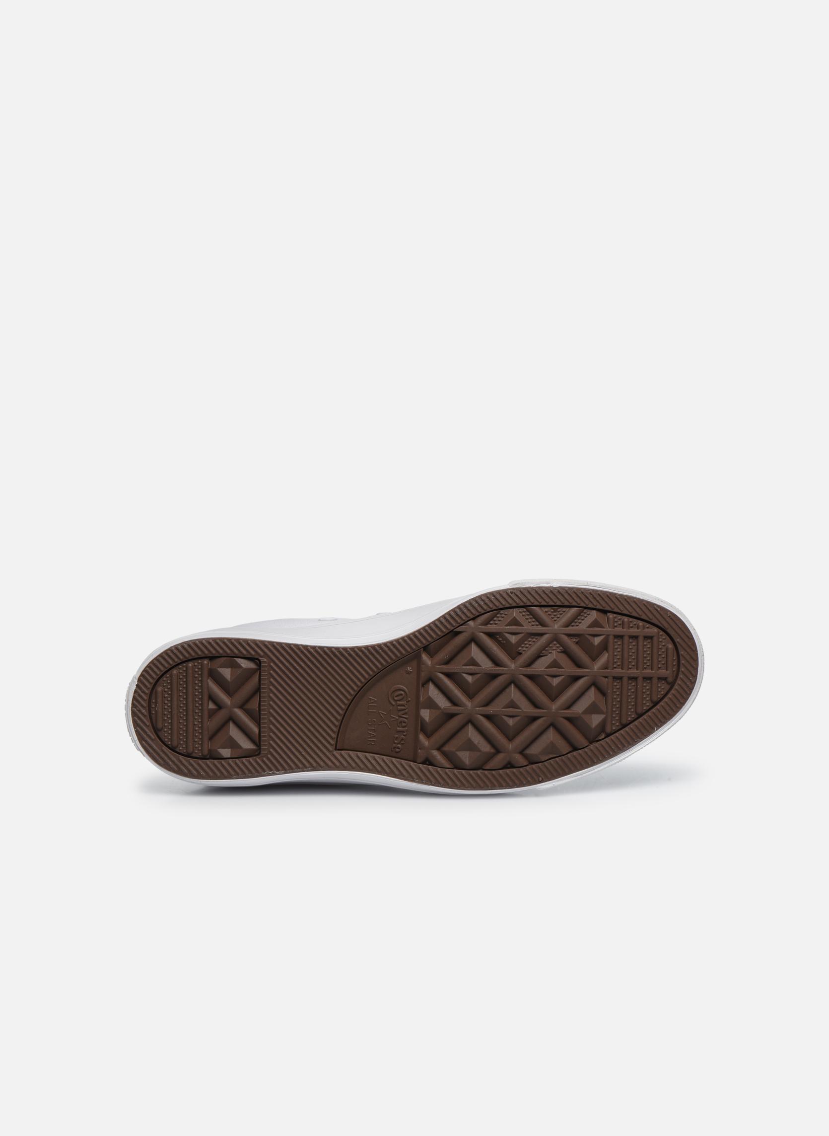 Sneaker Converse Chuck Taylor All Star Monochrome Canvas Hi W weiß ansicht von oben
