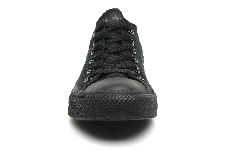Sneaker Converse Chuck Taylor All Star Monochrome Canvas Ox W schwarz schuhe getragen