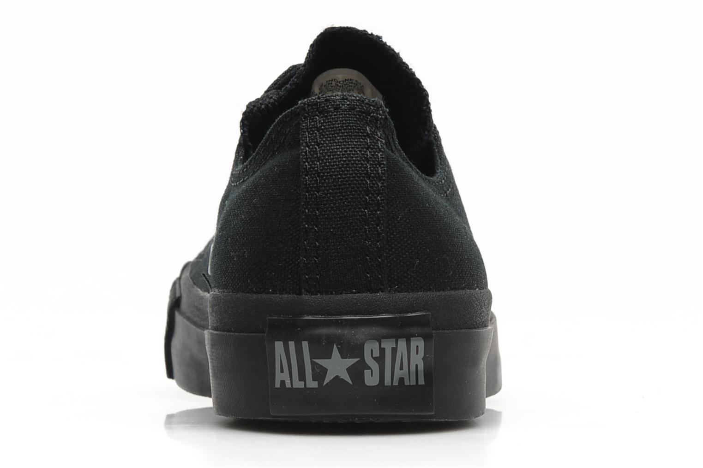 Baskets Converse Chuck Taylor All Star Monochrome Canvas Ox W Noir vue droite