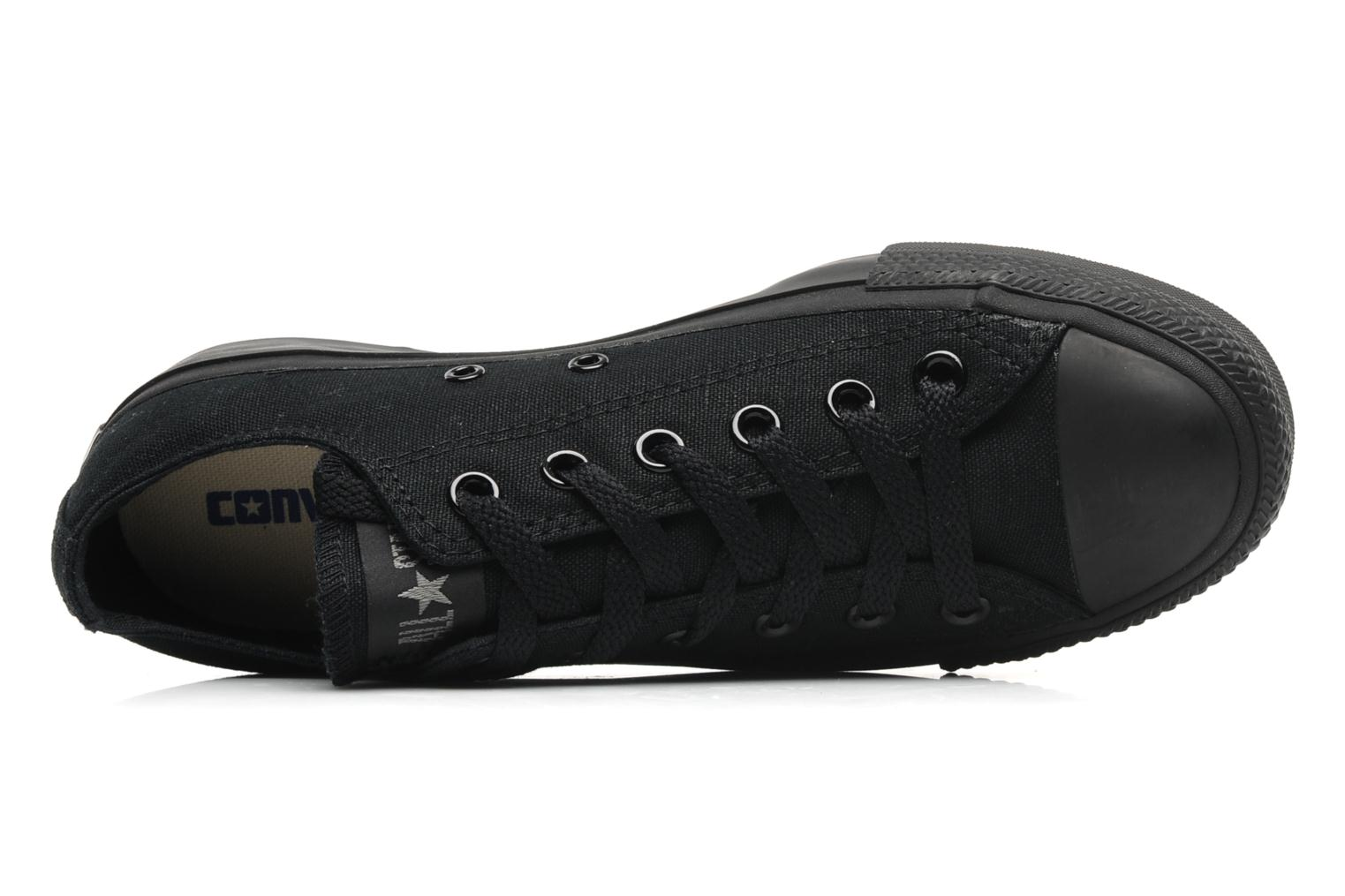 Trainers Converse Chuck Taylor All Star Monochrome Canvas Ox W Black view from the left