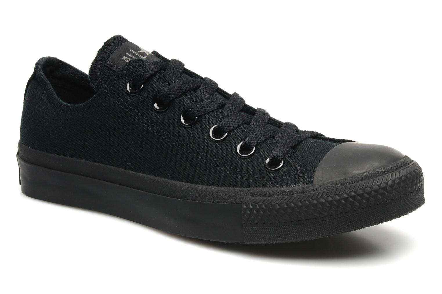 Trainers Converse Chuck Taylor All Star Monochrome Canvas Ox W Black detailed view/ Pair view