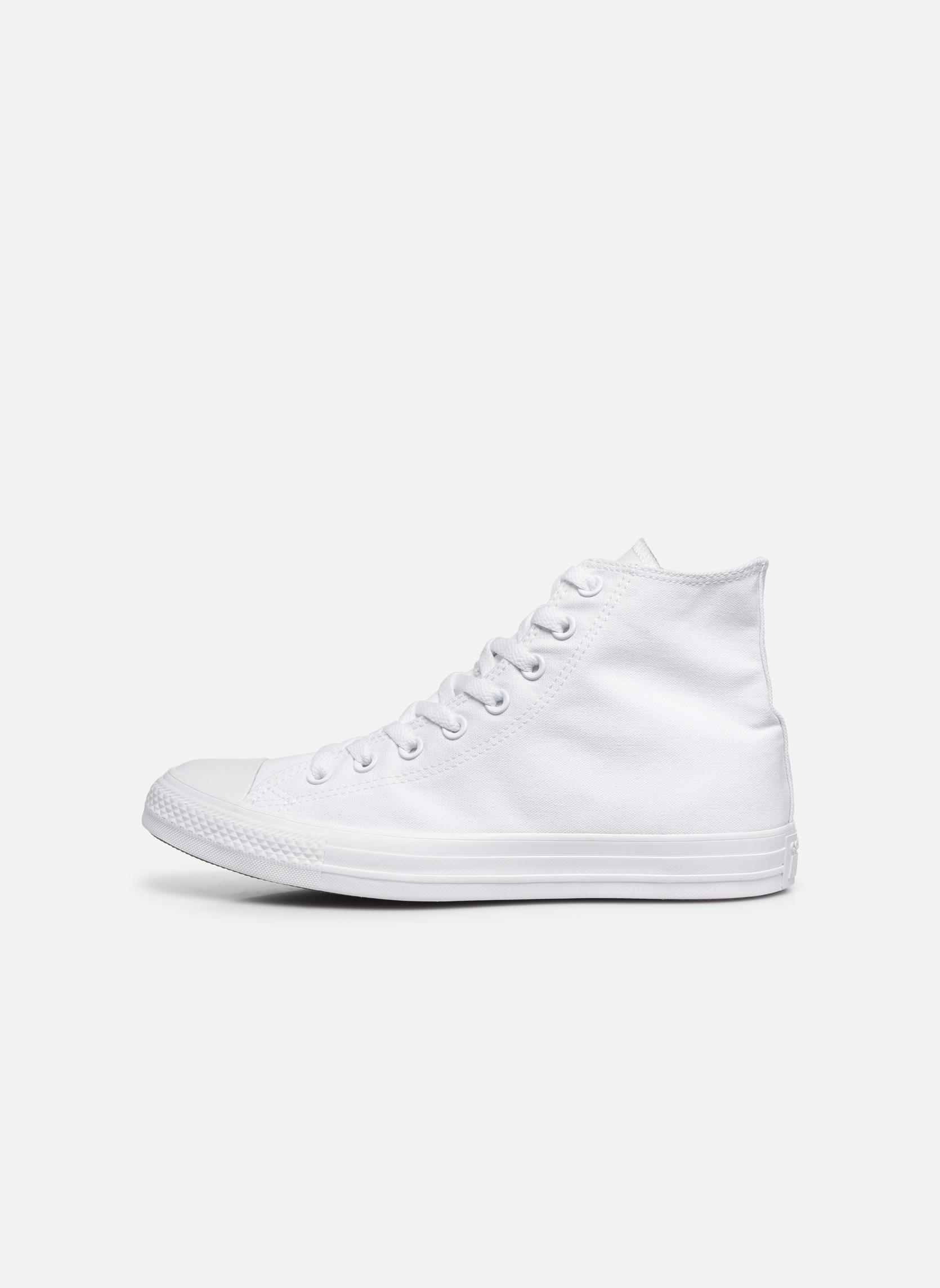 Baskets Converse Chuck Taylor All Star Monochrome Canvas Hi M Blanc vue face