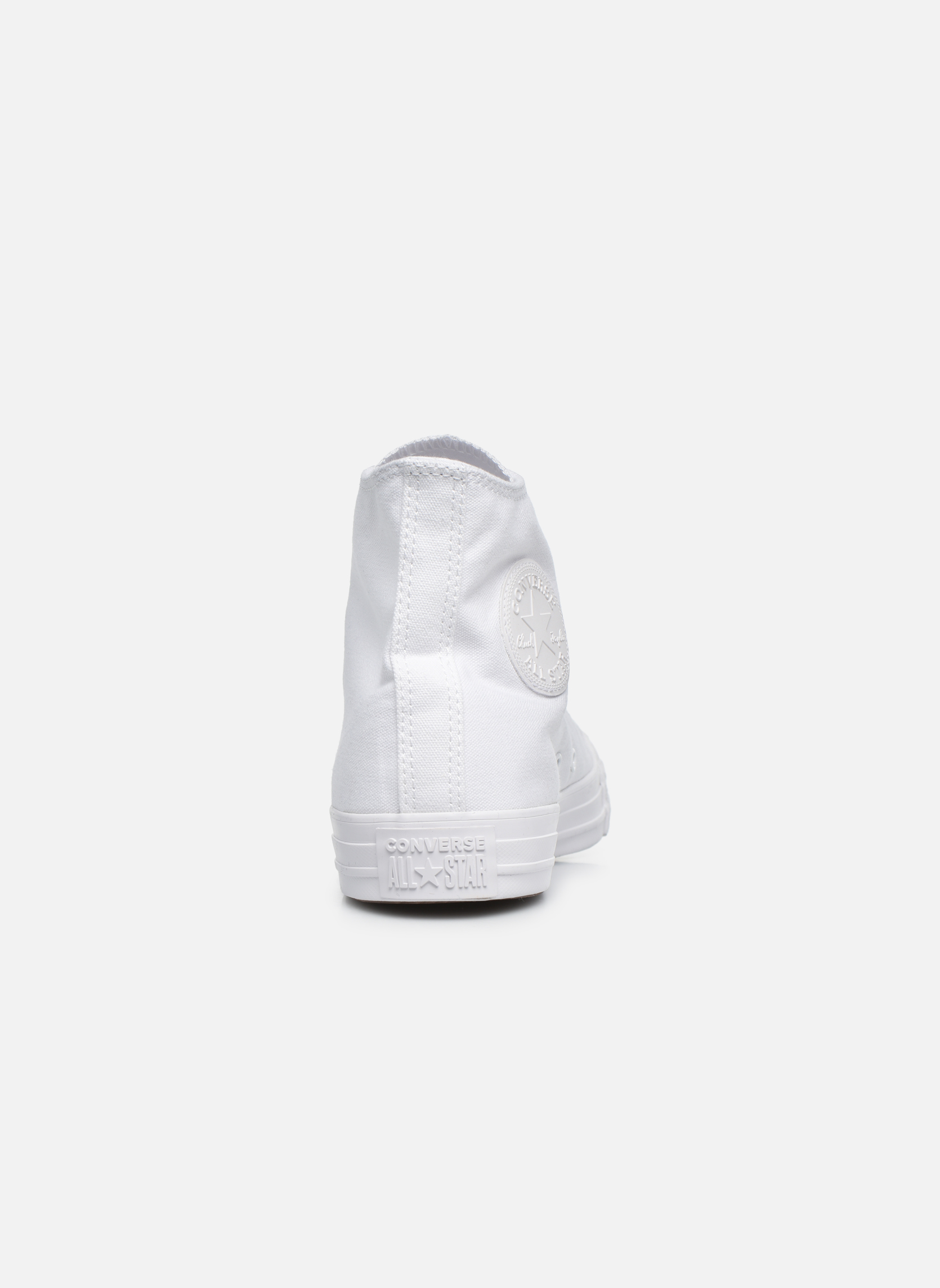Trainers Converse Chuck Taylor All Star Monochrome Canvas Hi M White view from the right