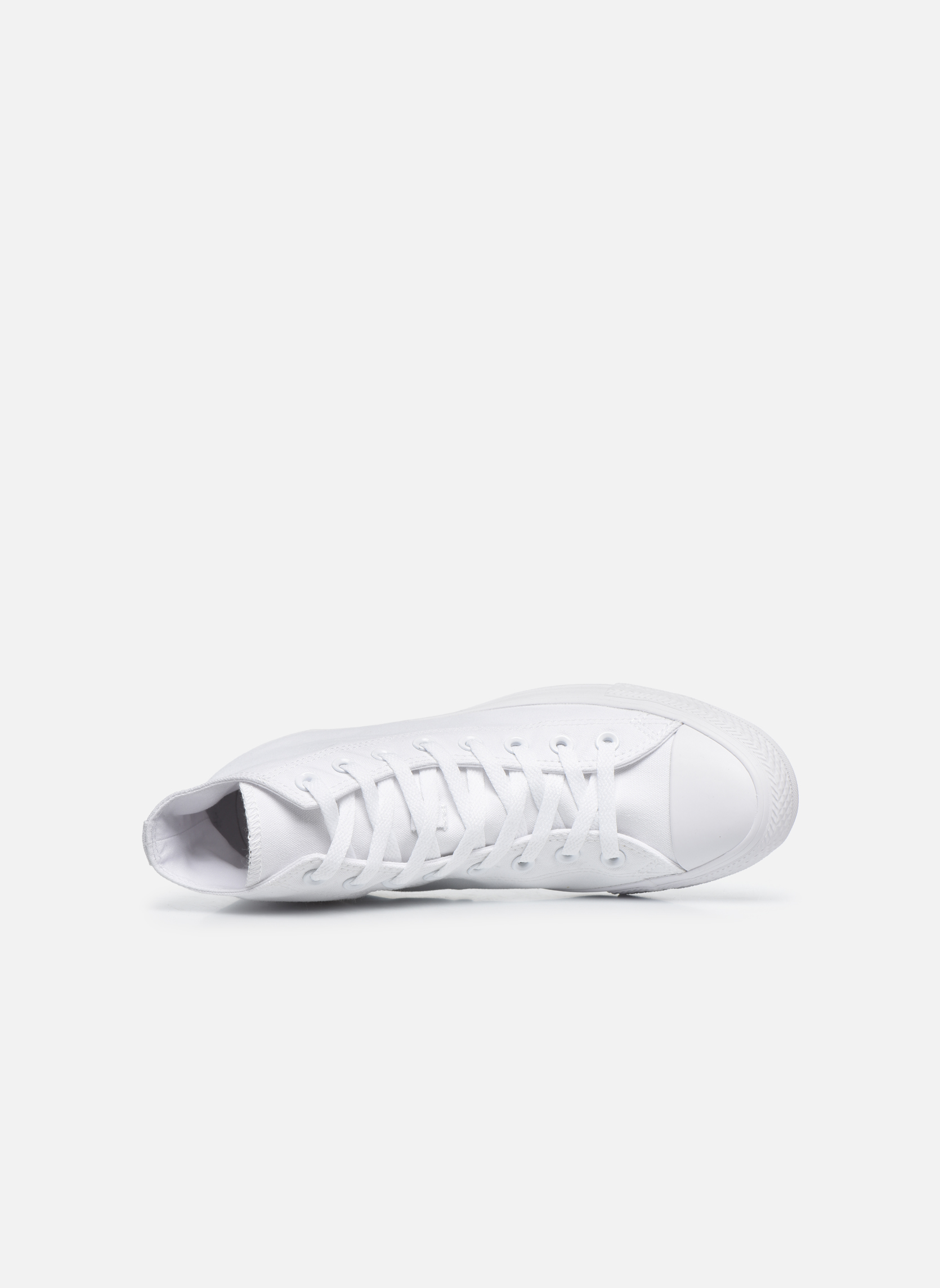 Baskets Converse Chuck Taylor All Star Monochrome Canvas Hi M Blanc vue gauche