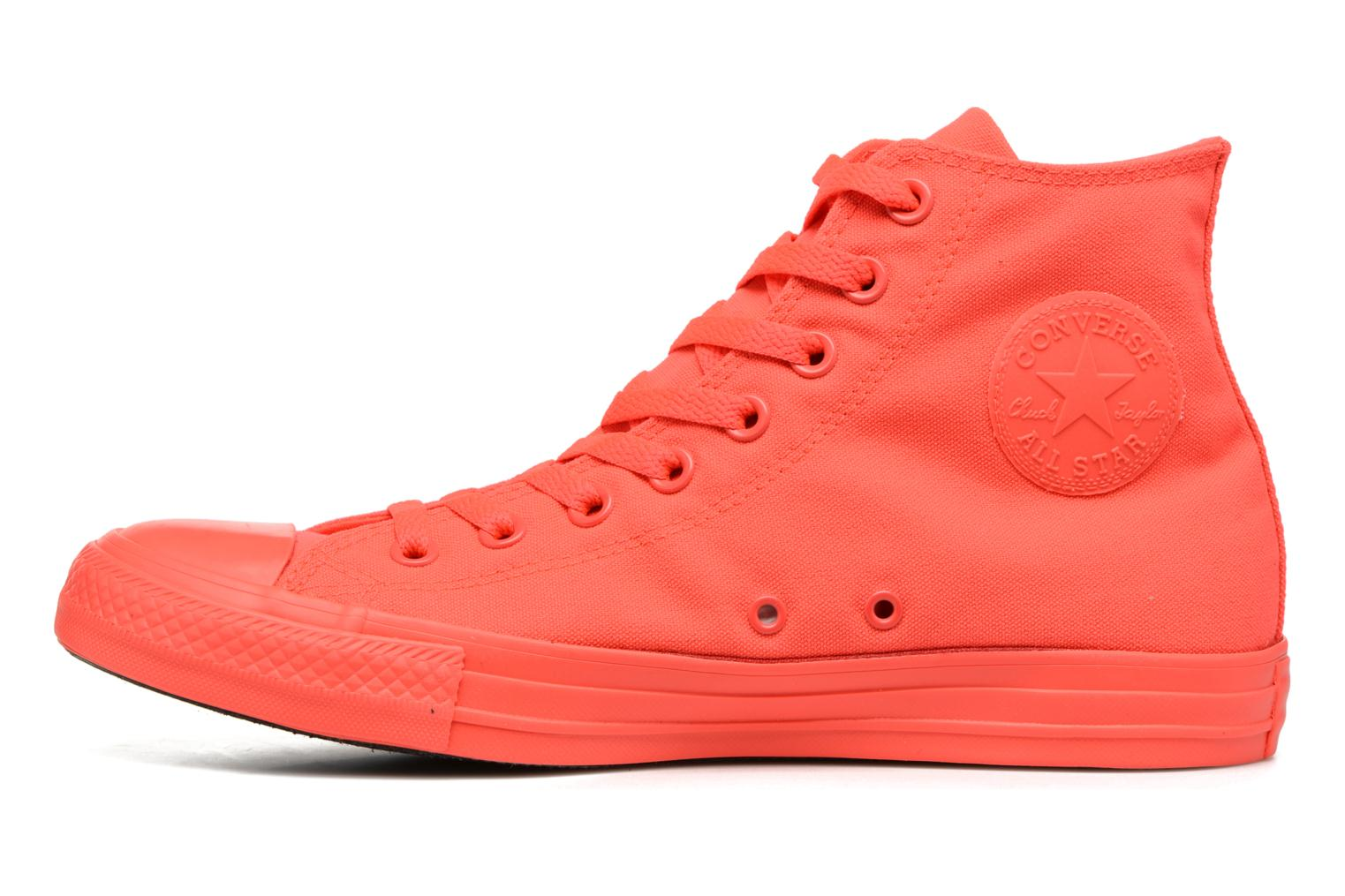 Trainers Converse Chuck Taylor All Star Monochrome Canvas Hi M Red front view