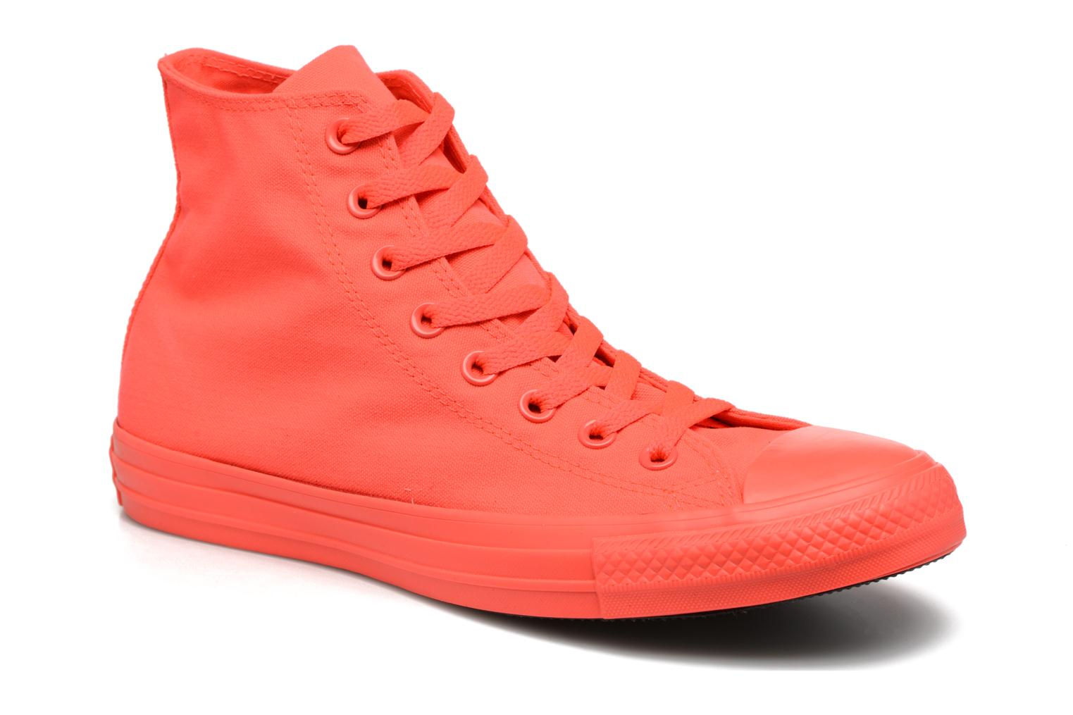 Trainers Converse Chuck Taylor All Star Monochrome Canvas Hi M Red detailed view/ Pair view