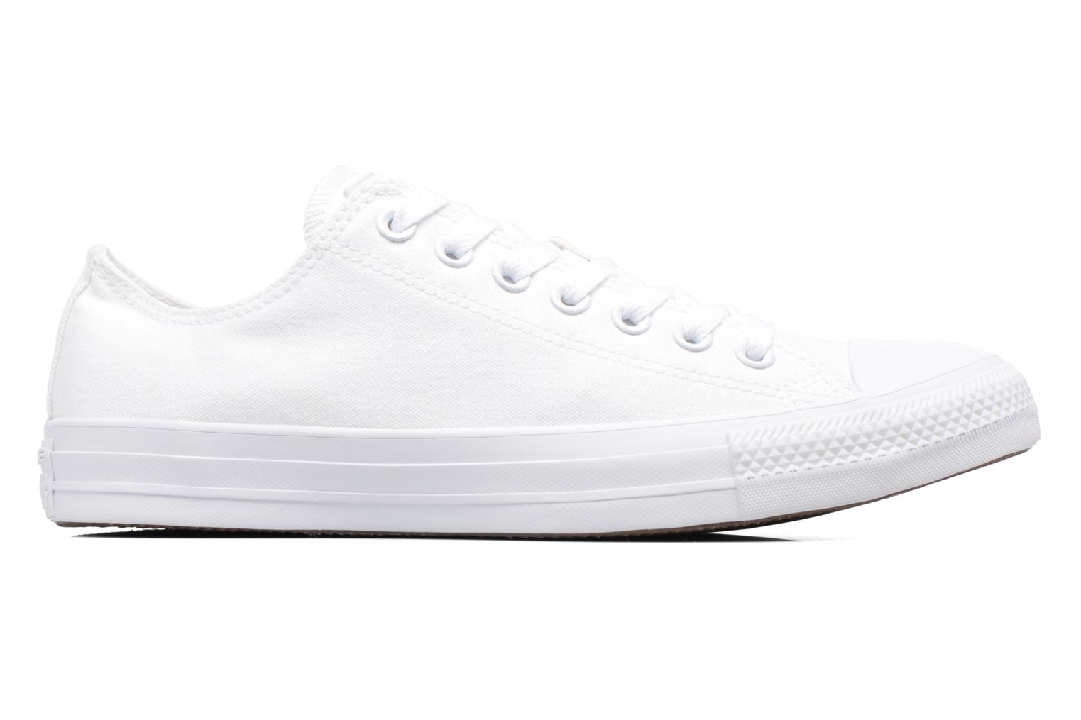 Sneakers Converse Chuck Taylor All Star Monochrome Canvas Ox M Hvid se bagfra