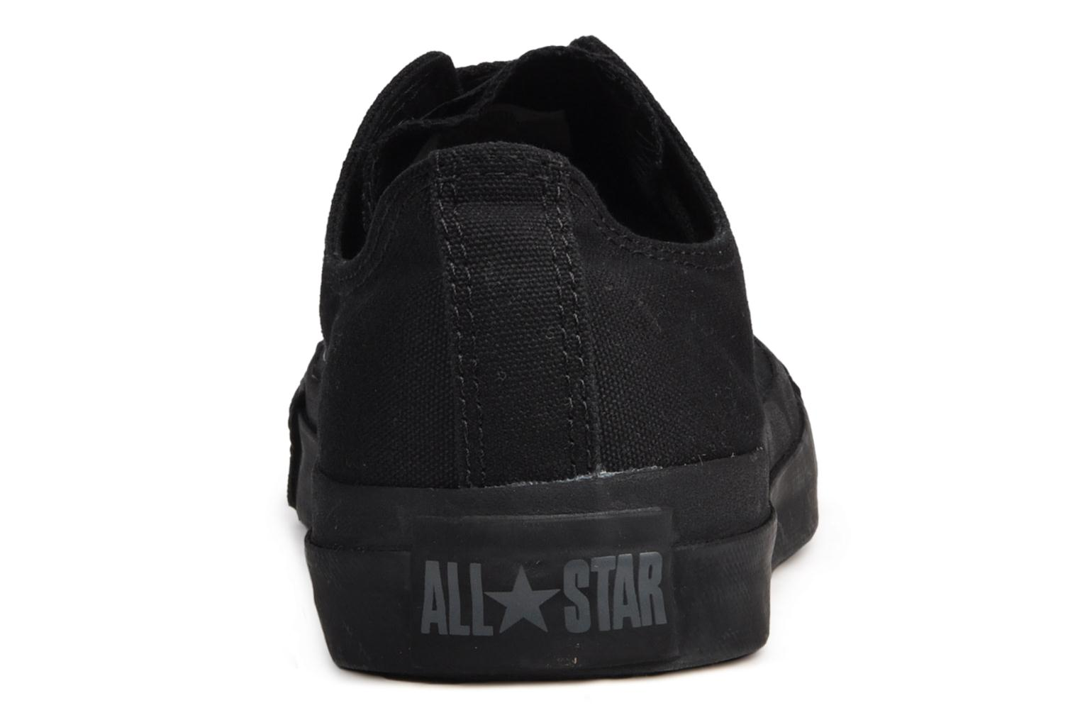 Trainers Converse Chuck Taylor All Star Monochrome Canvas Ox M Black view from the right