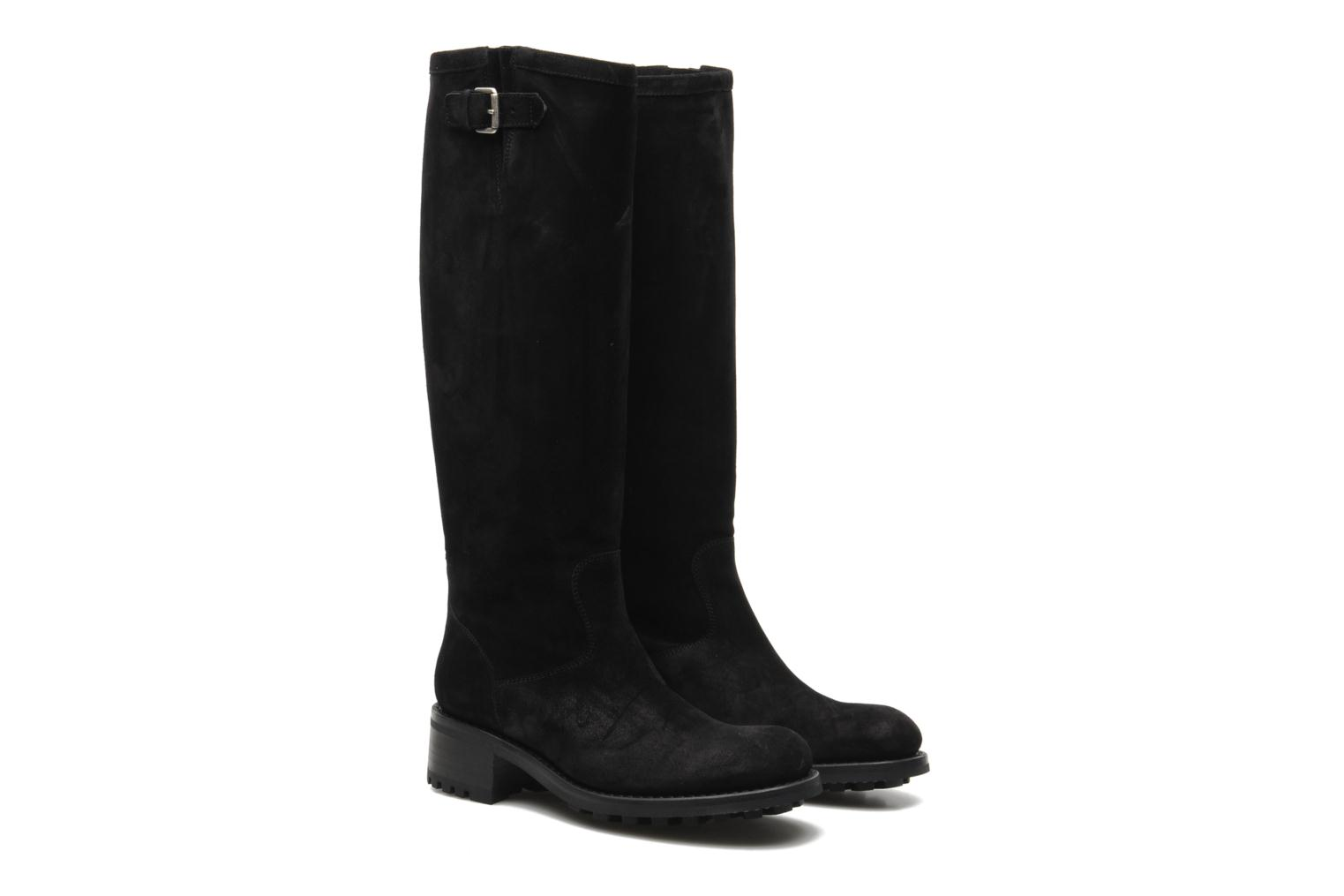 Boots & wellies Free Lance Biker 4 Geronimo Black 3/4 view