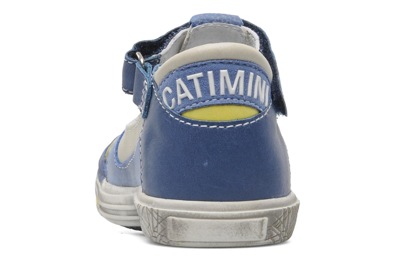 Chaussures à scratch Catimini Cameleon Gris vue droite