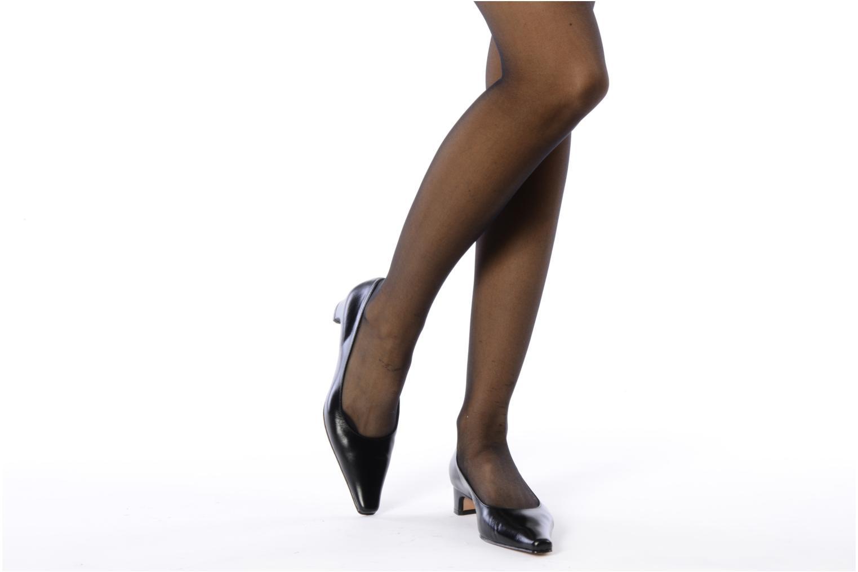 Escarpins Perlato Gina Noir vue bas / vue portée sac