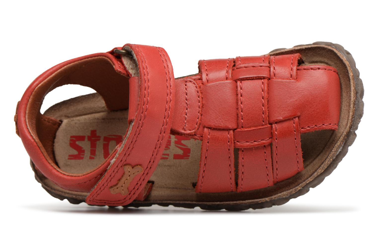 Sandalen Stones and Bones Raxi rot ansicht von links