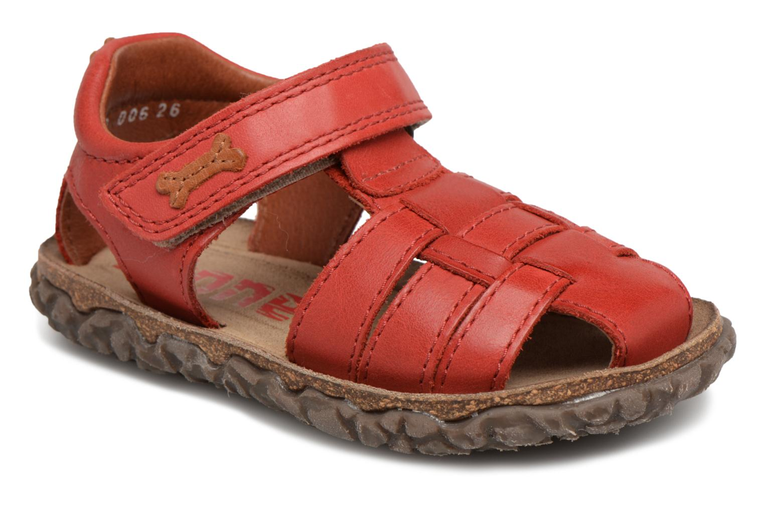 Sandals Stones and Bones Raxi Red detailed view/ Pair view